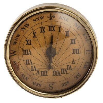 Nautica Solid Brass Sundial Compass