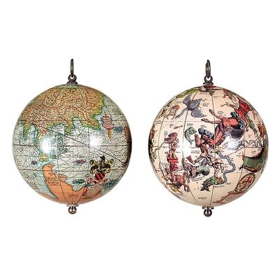 The Earth and Heavens 2 Piece Hanging Globe Set