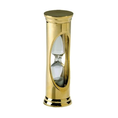 Whistle Solid Brass 3 Minute Sandglass