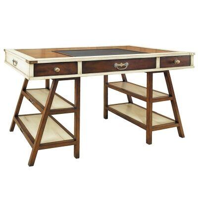 Navigators Solid Timber Desk - Ivory