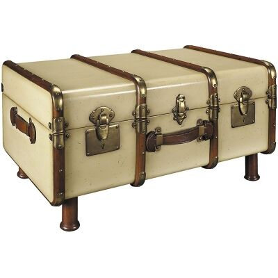 Stateroom Solid Timber Trunk Table - Ivory