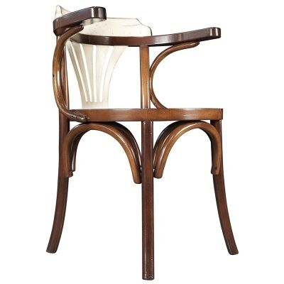 Pursers Timber Side Chair, Honey / Ivory
