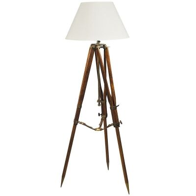 Campaign Tripod Floor Lamp - Ivory/Natural