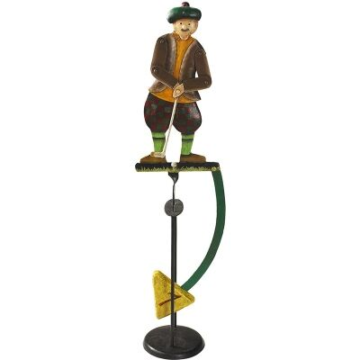 HandAuthentic Models Hand Crafted Metal Skyhook Balance Toy, Golfer