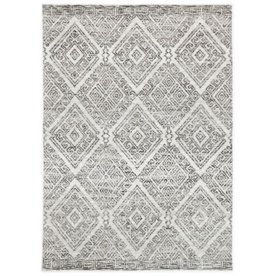 Amristar Glenfall Modern Tribal Rug, 330x240cm, Grey