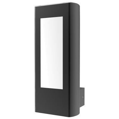 Amun IP54 Exterior LED Wall Light, Black