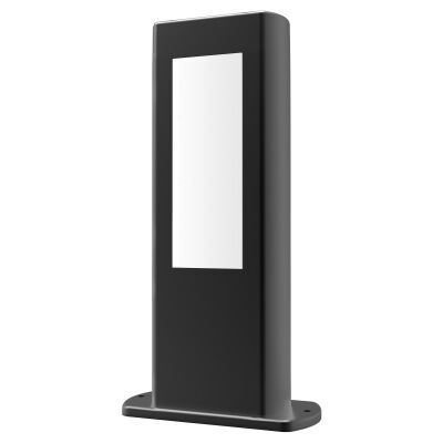 Amun IP54 Exterior LED Bollard Light, 30cm, Black
