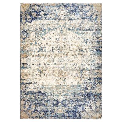 Venice Egyptian Made Stunning Designer Rug in Ivory Blue - 330x240cm