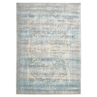 Mist Egyptian Made Stunning Designer Rug in Silver Blue - 290x200cm
