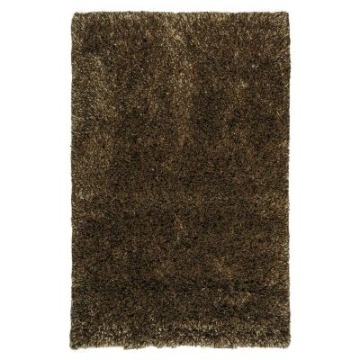 Angora Lux Wool & Viscose Shaggy Rug, 165x115cm, Bronze