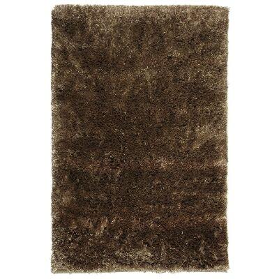 Angora Lux Wool & Viscose Shaggy Rug, 225x155cm, Camel