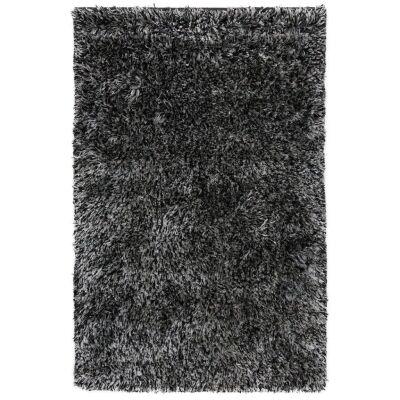 Angora Lux Wool & Viscose Shaggy Rug, 165x115cm, Granite