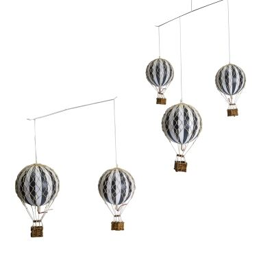 Flying The Skies Balloon Mobile Decor, Black / White
