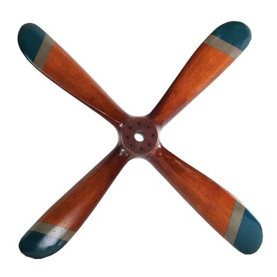 4 Blade Recycled Timber Replica Flight Propeller