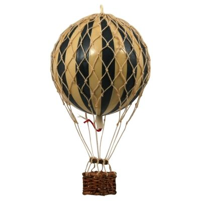 Floating The Skies Hot Air Balloon Model, Black