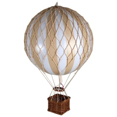 Floating The Skies Hot Air Balloon Model, White / Ivory