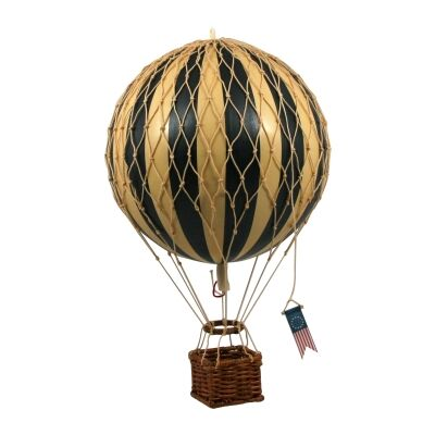 Travels Light Hot Air Balloon Model, Black