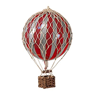 Travels Light Hot Air Balloon Model, Red / Silver