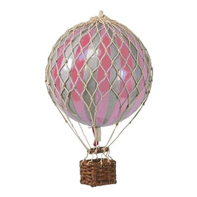 Royal Aero Hot Air Balloon Model, Silver / Pink