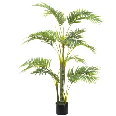 Potted Artificial Areca Palm Tree, 120cm