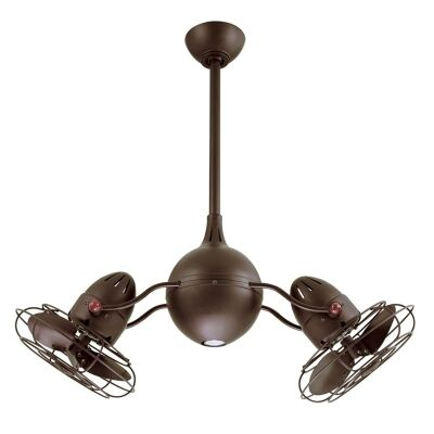 Atlas Acqua Commercial Grade Metal Ceiling Fan with Safety Cage -  Bronze
