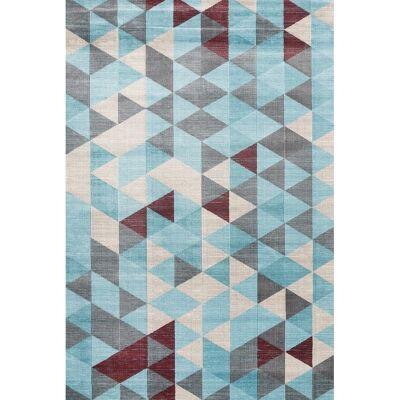 Aqua Silk Asti Turkish Made Modern Rug, 200x290cm, Turquoise