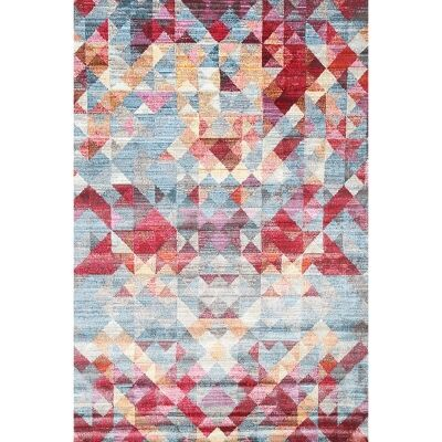 Aqua Silk Annacy Turkish Made Modern Rug, 150x220cm, Multi Red
