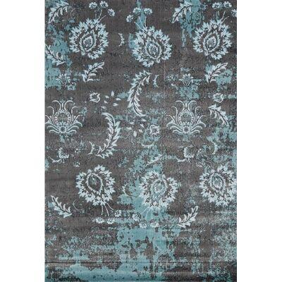 Aqua Silk Vasto Turkish Made Modern Rug, 150x220cm, Charcoal