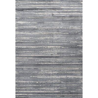 Aqua Silk Crotone Turkish Made Modern Rug, 150x220cm, Grey