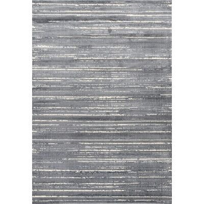 Aqua Silk Crotone Turkish Made Modern Rug, 200x290cm, Grey