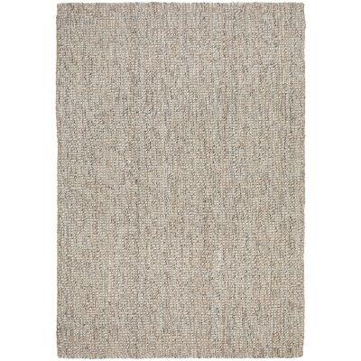 Arabella Hand Loomed Wool & Jute Rug, 165x115cm, Grey / Natural
