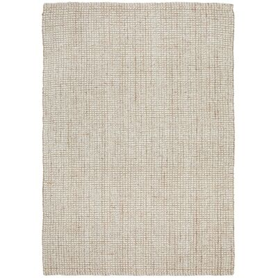 Arabella Hand Loomed Wool & Jute Rug, 165x115cm, Cream / Natural