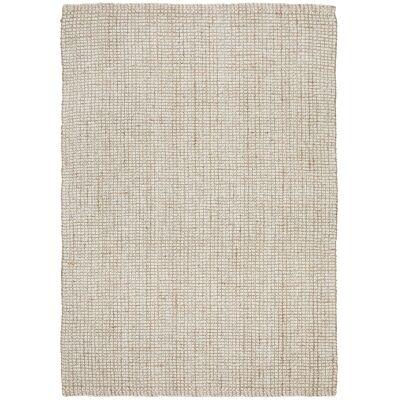 Arabella Hand Loomed Wool & Jute Rug, 280x190cm, Cream / Natural