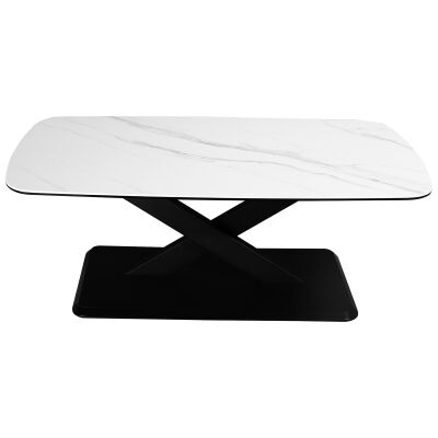 Cabot Ceramic Topped Metal Coffee Table, 130cm