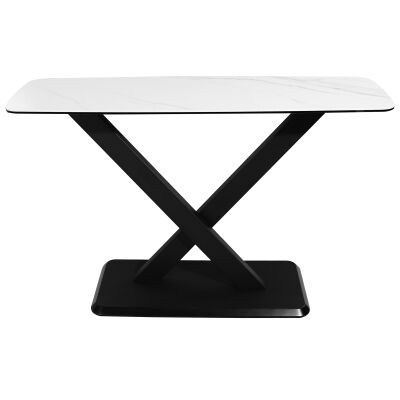 Cabot Ceramic Topped Metal Console Table, 130cm