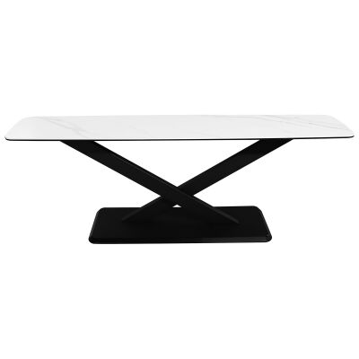 Cabot Ceramic Topped Metal TV Stand, 180cm