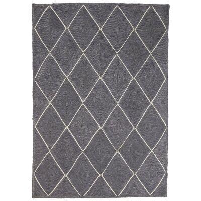 Artisan Diamond Handmade Jute Rug, 190x280cm, Grey