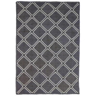 Artisan Parquetry Handmade Jute Rug, 220x150cm, Grey