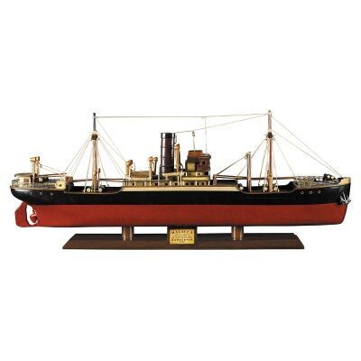 Handcrafted Wooden Tramp Steamer Malacca Model