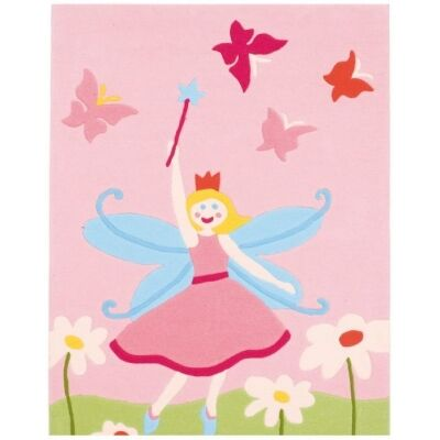Arte Espina Fairy and Butterflies Hand Tufted Kids Rug, 160x110cm