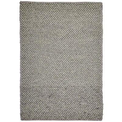 Aspen Handwoven Wool Rug, 160x110cm, Metal