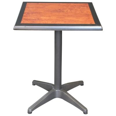 Mestre Commercial Grade Square Dining Table, 60cm, Cherrywood / Anthracite