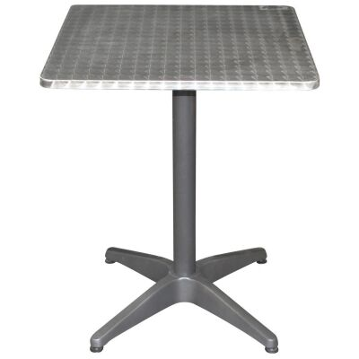 Mestre Commercial Grade Square Dining Table, 60cm, Silver / Anthracite