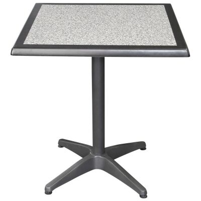 Mestre Commercial Grade Square Dining Table, 60cm, Pebble / Anthracite