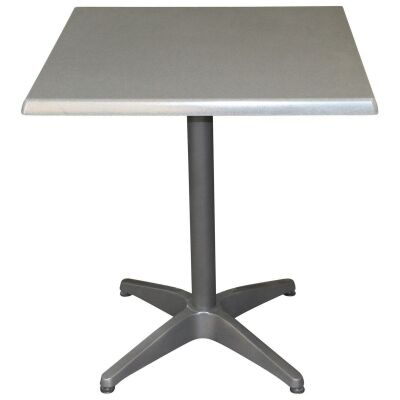 Mestre Commercial Grade Square Dining Table, 70cm, Granite / Anthracite