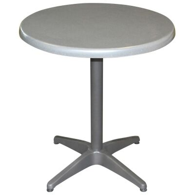 Mestre Commercial Grade Round Dining Table, 70cm, Granite / Anthracite