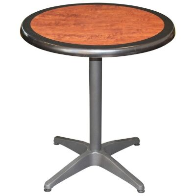 Mestre Commercial Grade Round Dining Table, 70cm, Cherrywood / Anthracite