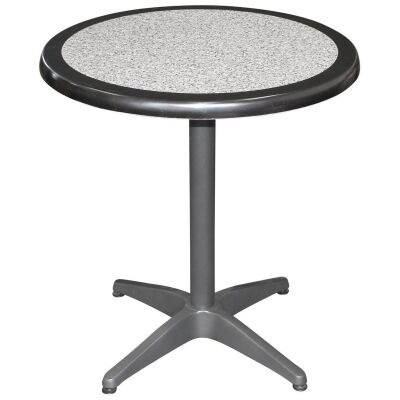 Mestre Commercial Grade Round Dining Table, 70cm, Pebble / Anthracite
