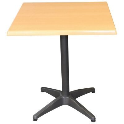 Mestre Commercial Grade Square Dining Table, 80cm, Beech / Anthracite