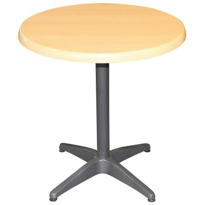 Mestre Commercial Grade Round Dining Table, 80cm, Beech / Anthracite